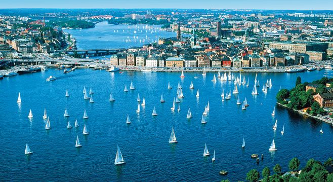 Picture-perfect Stockholm.