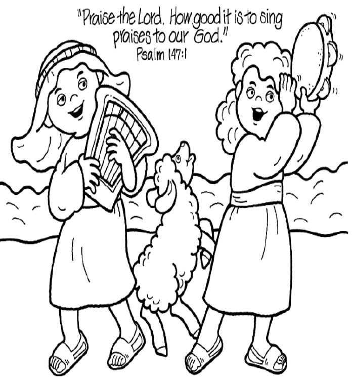 praise the lord coloring page for psalm - A Child God Coloring Page