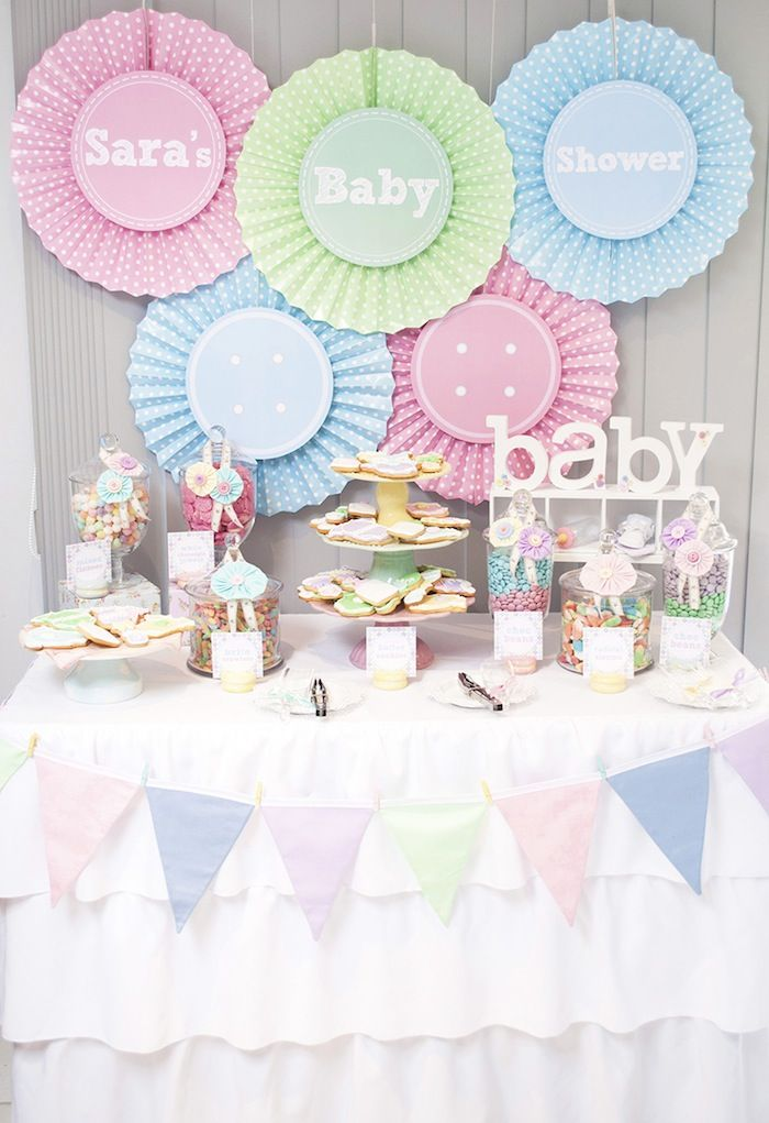 Cute as a Button Baby Shower with SUCH CUTE IDEAS via Kara's Party Ideas | KarasPartyIdeas.com #girlbabyshower #cuteasabuttonparty #partyide...