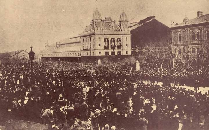 1894. Kossuth Lajos temetése, a Nyugatinál .
