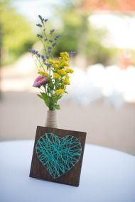 String art! Grayslake Wedding from Amanda Megan Miller Photography | Style Me Pretty