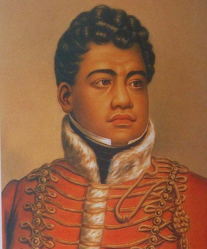 Kamehameha II (c. 1797 – July 14, 1824) was the second king of the Kingdom of Hawaii. His birth name was Liholiho. He was born circa 1797 in Hilo, on the island of Hawaiʻi, the eldest son of Kamehameha I and his highest-ranking consort Queen Keōpuolani. He was groomed to be heir to the throne from age five.
