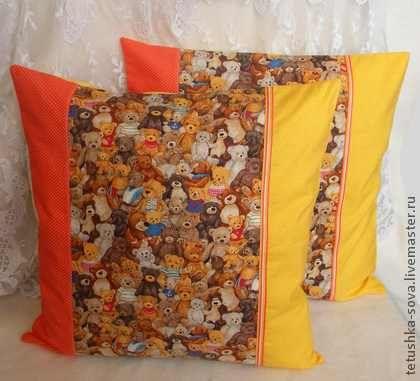 Наволочка Мишки Тедди - подушка,наволочка,подарок на новоселье,подарок на день рождения