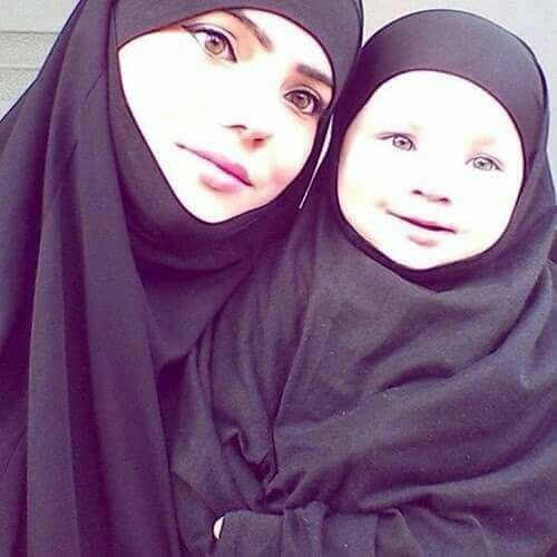 Ummi and Baby in Jilbab
