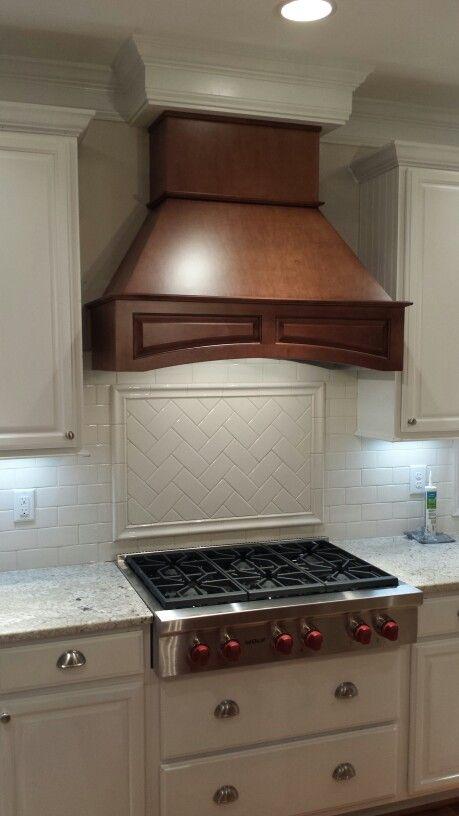 Kitchen backsplash picture frame accent