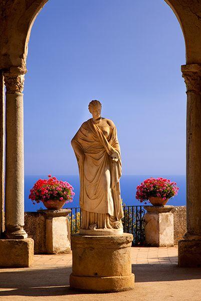 Garden terrace of Villa Cimbrone along the Amalfi Coast, Ravello, Italy
