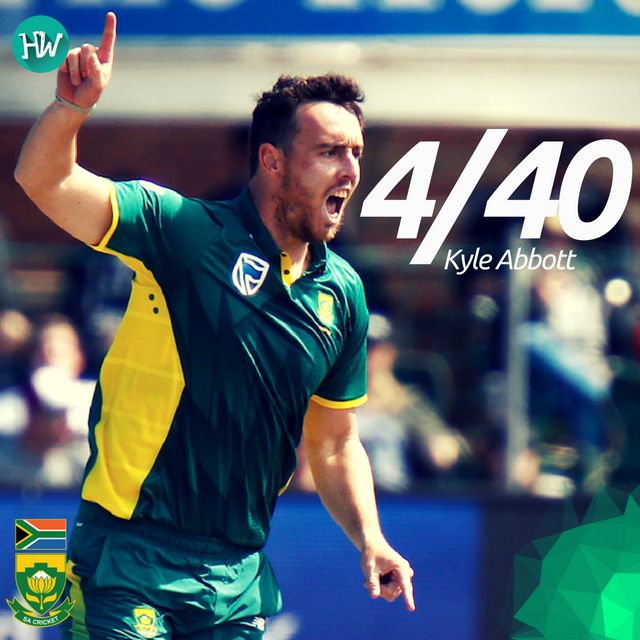 Kyle Abbott is the Man of the Match for some brilliant bowling! #SAvAUS #SA #AUS #cricket