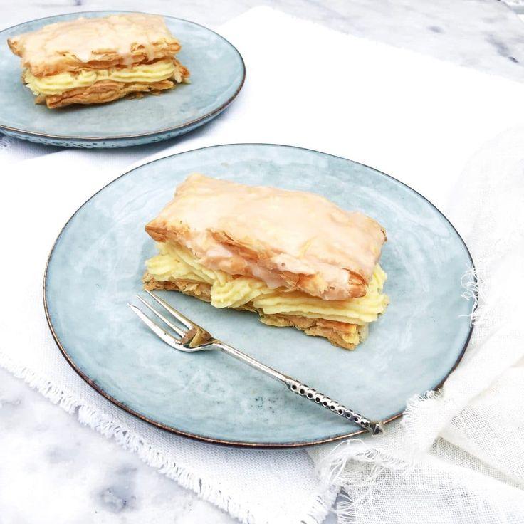 Hét gebak voor Koningsdag is de oranje tompouce - Makkelijk & heerlijk recept madebyellen.com