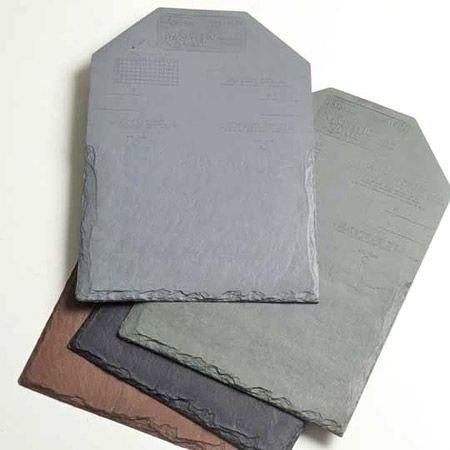 rubber roof tiles look like slate.  When you need to tile over your roof.  10 to15 yrs. old.