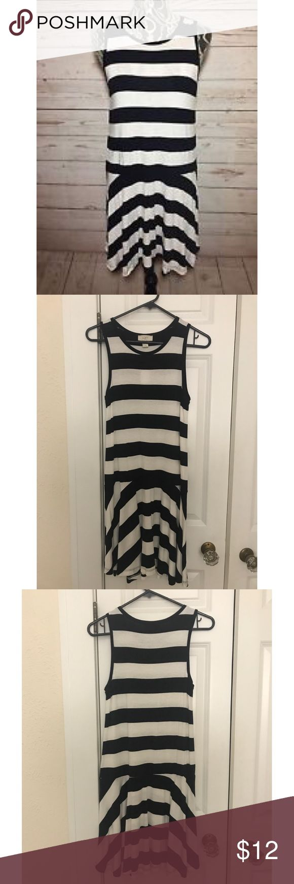 Ann Taylor LOFT Outlet Striped Dress Black & white striped dress from Ann Taylor LOFT Outlet. Brand new with tag. 97% rayon, 3% spandex. Ann Taylor LOFT Outlet Dresses