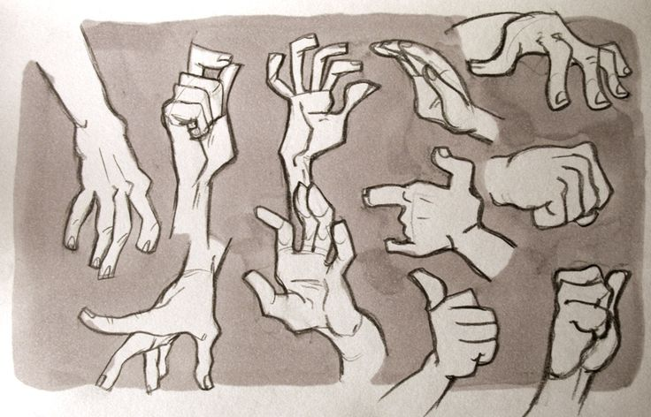 dibujo de manos expresivas
