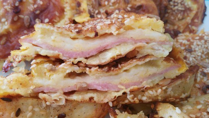 Bakina kuhinja - pohovane sendvič tikvice iz rerne       Potrebno je:   3 jaja  1 kg. tikvica  100 gr brašna  100 gr kačkavalja  100 gr p...
