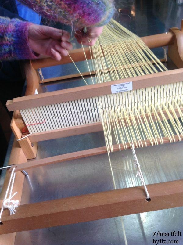 warping up a rigid heddle loom