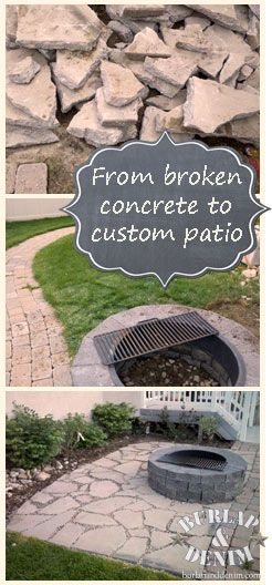 Recycled Concrete Patio. See all the steps and how to create this. Maybe we could do this....