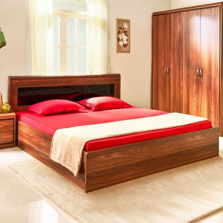 Buy Archer Engineered Wood Box Storage King Size Bed In Walnut Colour By Hometown Online At Best Price Shop Engineered In 2020 Buy Bedroom Furniture Bedroom Furniture