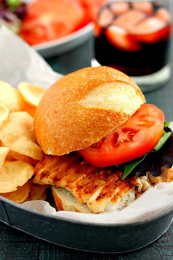 This Grilled Haddock Sandwich makes the perfect lunch or dinner and is full of flavor!