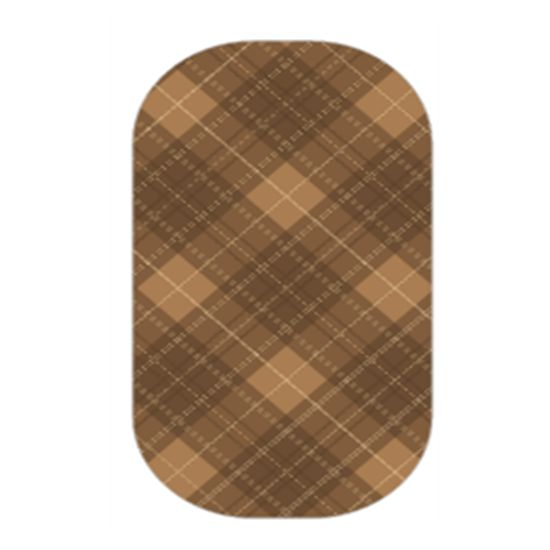 Autumn Argyle - Brown argyle patterns make this brown mixed mani a hip fun and country look!