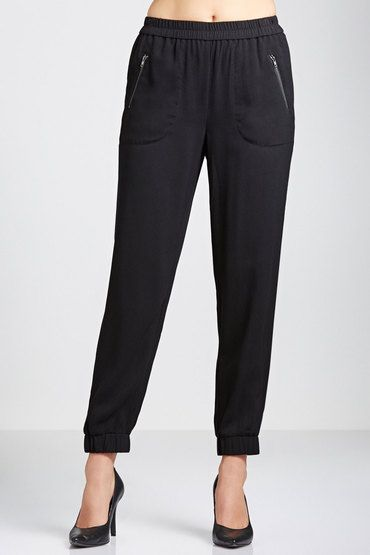 good quality material, nice length and cut. Can be worn with anything and are so much better than a pair of jeans! which I never wear or own a pair anymore!