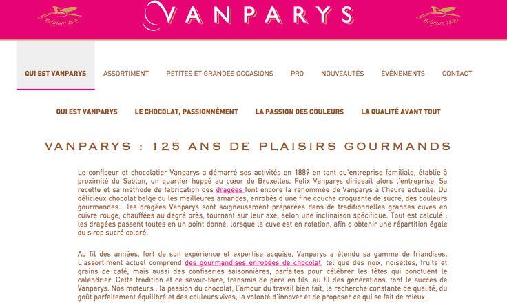 Ecrire, ma gourmandise ! Je dois faire attention à ma ligne... Les dragées Van Parys se parent d'un nouveau site.