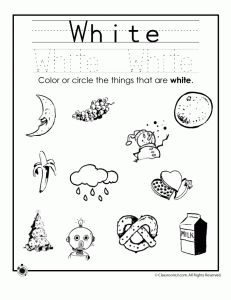 color white worksheet - Colour Worksheets For Kindergarten