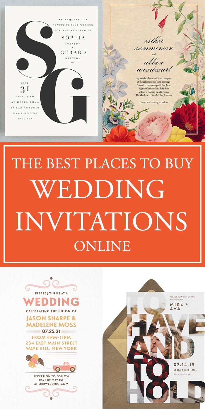 The Best Places To Buy Your Wedding Invitations Online With Images Buy Wedding Invitations Fun Wedding Invitations Order Wedding Invitations Online