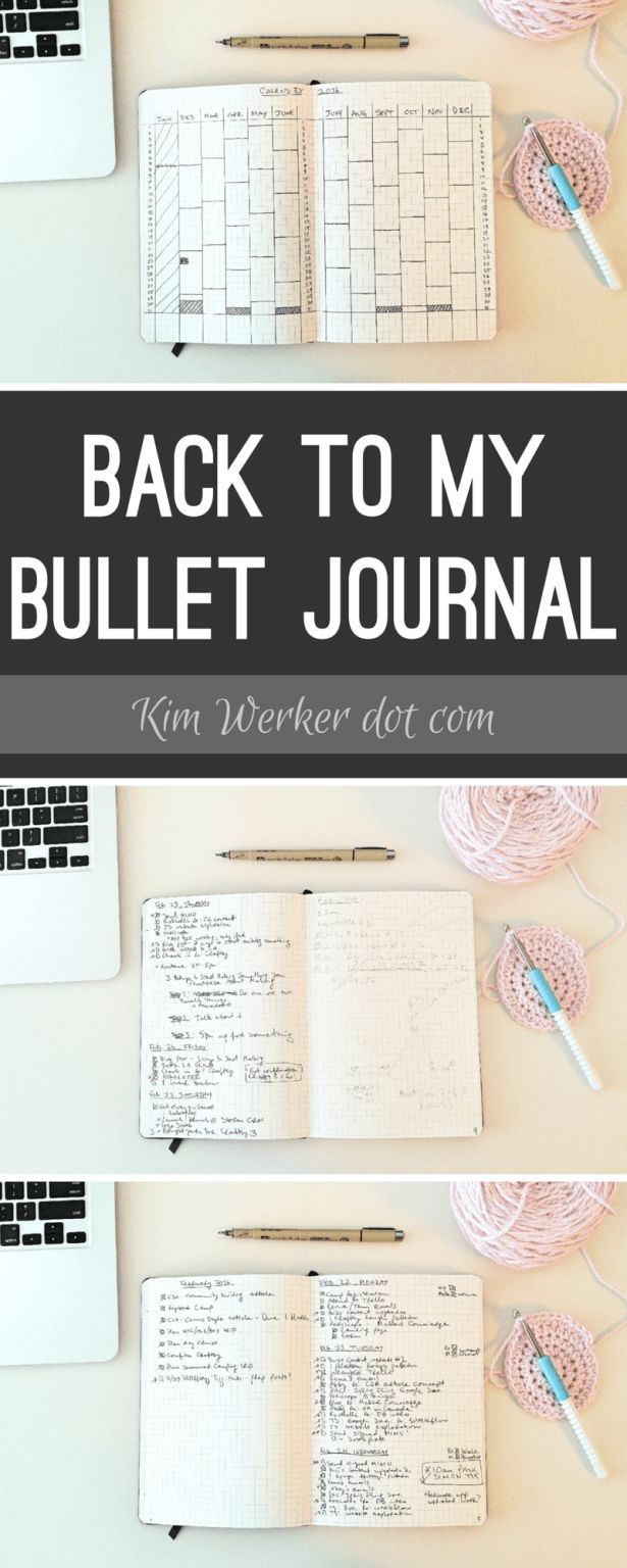 Bullet Journal spreads, and why I've come back to my BuJo after a break.