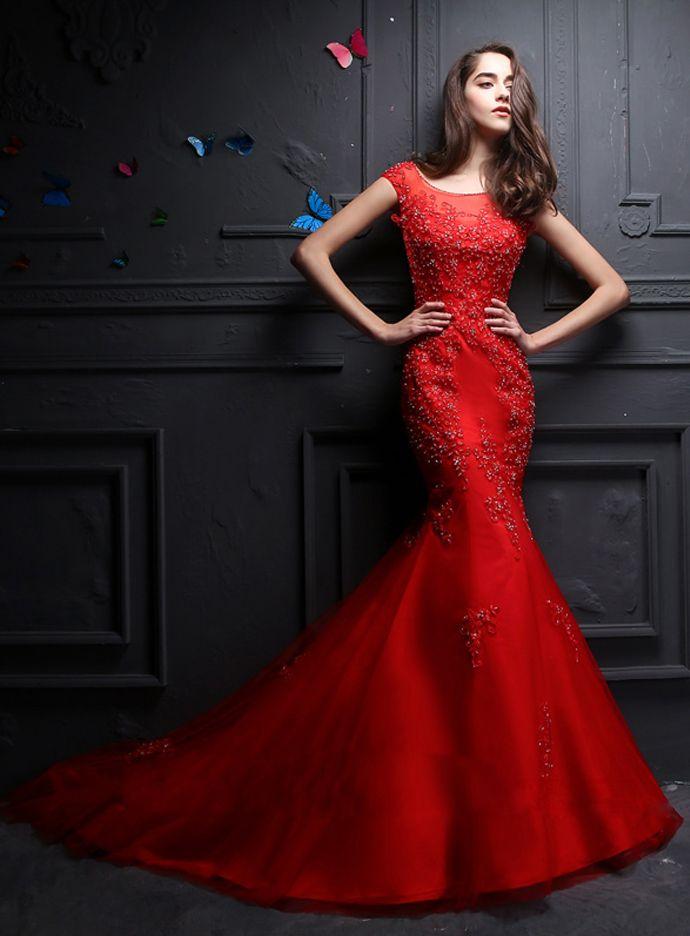 Wedding dresses red uk