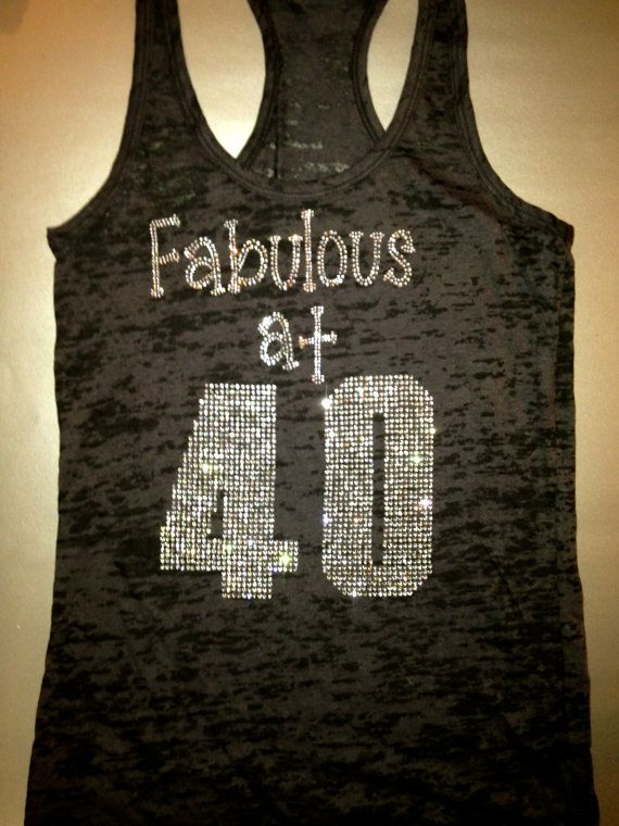 I might need this for my next birthday! Custom Rhinestone Birthday Workout Tank Top. by MOZtrendFit, $24.95