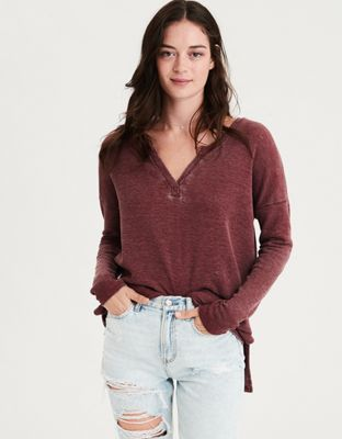 6a90739c6 AE Long Sleeve Waffle T-Shirt by American Eagle Outfitters   Style starts  here. Wear it your way.Style starts here. Wear it your way.