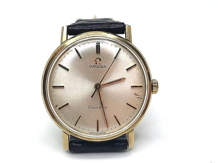 OMEGA Geneve Mechanical Caliber 601 Yellow Gold 9ct. Men Used 34mm. Watch 1968 #Omega #DressFormal