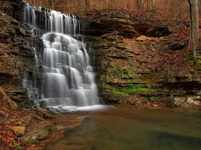 Hurst Falls Cove Springs Park Frankfort, Kentucky (the falls named for my (step)grandfather who built and polished the place.