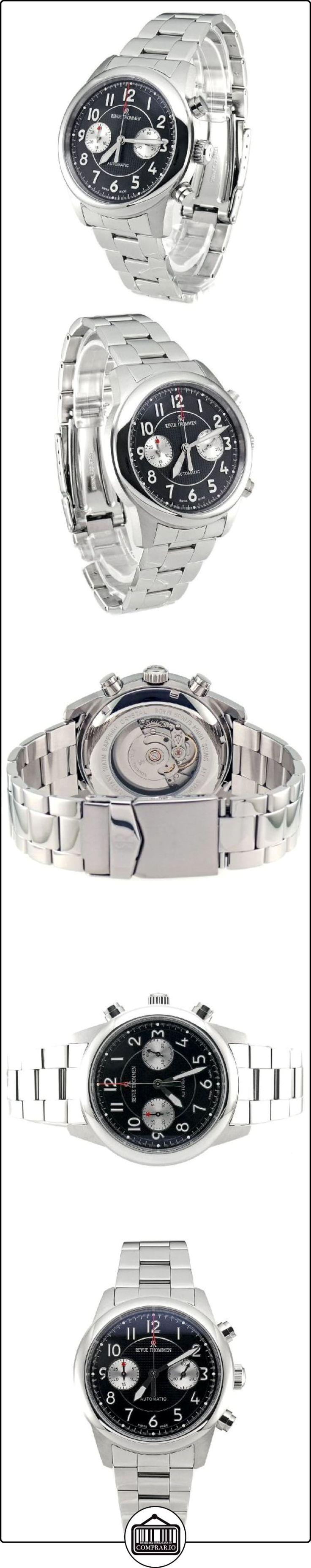 Revue Thommen Bicompax Chronograph 16064.6837 - Reloj de caballero automático, correa de acero inoxidable color plata  ✿ Relojes para hombre - (Lujo) ✿