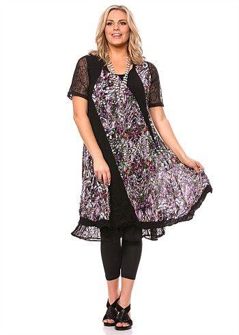 #TS Divided Unity Dress #plussize #curvy #takingshape