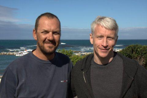 Anderson Cooper and Mike Rutzen