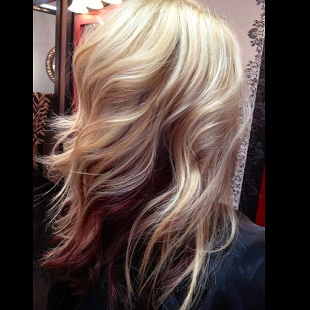 Love This <3 I'd like this with my strawberry natural color on top and a deeper auburn underneith:)
