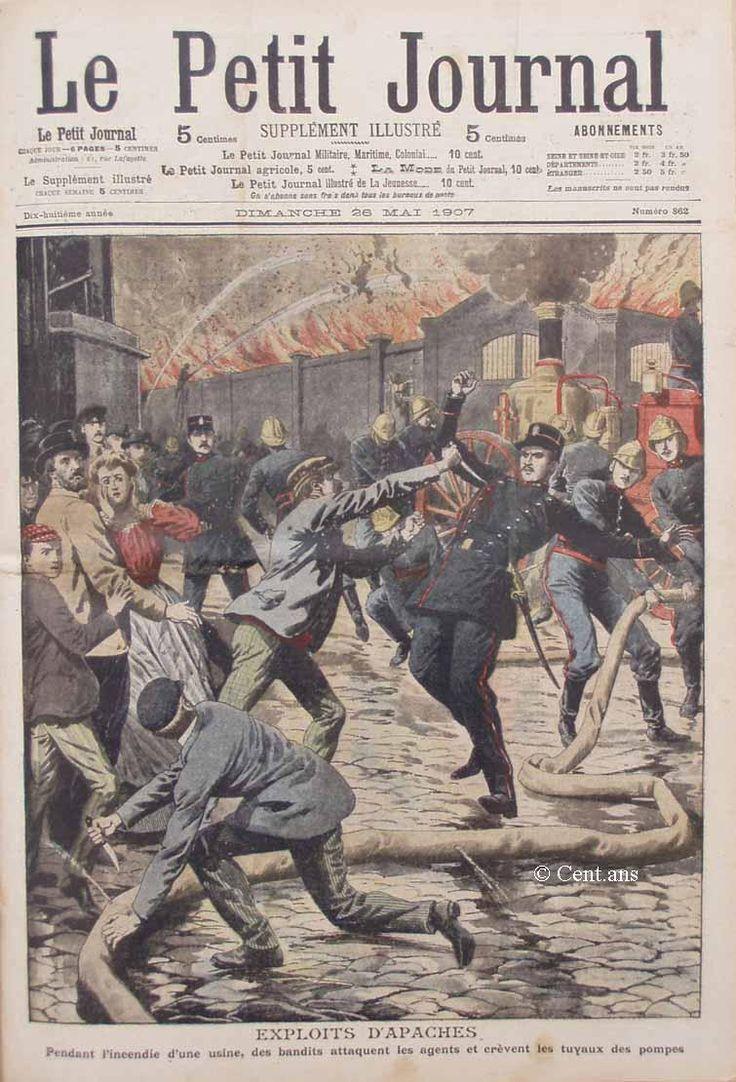 Le Petit Journal, 26 mai 1907.Apaches gangs invade Paris...