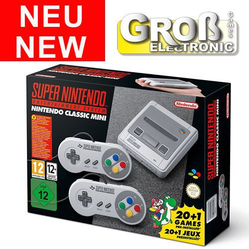 Nintendo Classic Mini: Super Nintendo Classic Entertainment System NEU LIEFERBAR