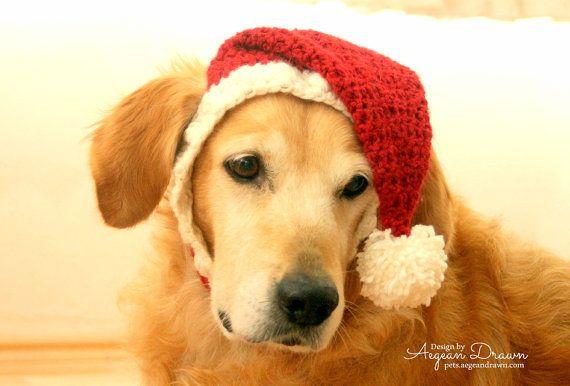 Nikolausmütze für Hunde, Hund, Nikolausmütze, Urlaub Hund hustet Weihnachten Hut für Hunde, große Rasse Hund Hut, Weihnachten Hund Hut, Santa Dog Hut