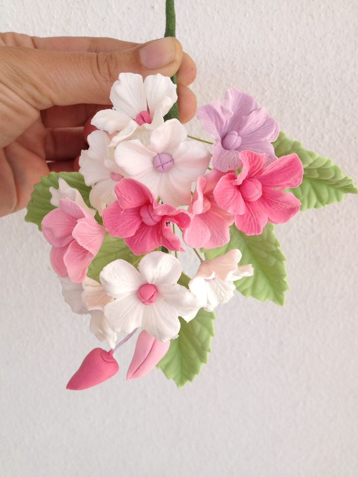 Ramillete de flores para tarta de comunión, bautizo. Fotopastel.com