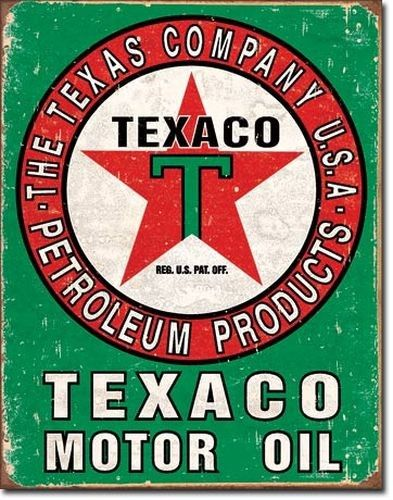 Blechschild Texaco Oil Weathered-DE1927