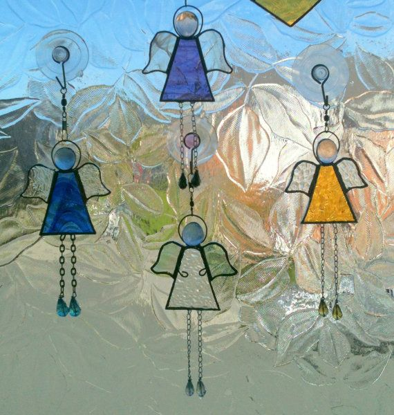 Stained glass Dangle Angel or Fairy Suncatcher
