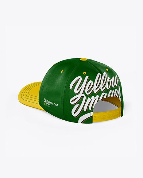 Download Snapback Cap Mockup Back Half Side View In Apparel Mockups On Yellow Images Object Mockups Design Mockup Free Free Psd Design Psd Template Free
