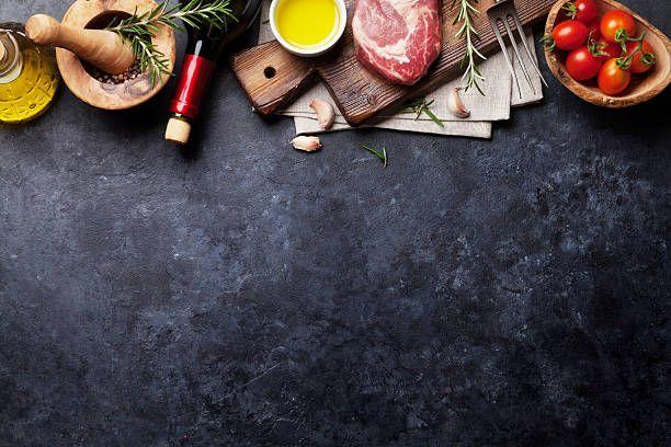 raw beef steak cooking