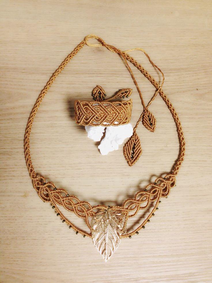 macrame bracelet & Necklace