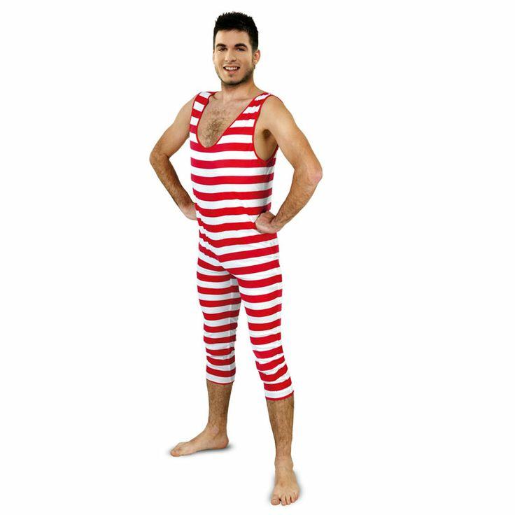 Ahora al ver estos modelos de bañadores nos reímos con ellos al resultarnos extremadamente graciosos, pero hay que pensar que sobre los años 20 este tipo de bañador que presentamos en forma de disfraz era lo último en moda playera: show asegurado. #disfraces #carnaval