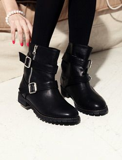 Dholic : Engineer boots with buckles | Sumally