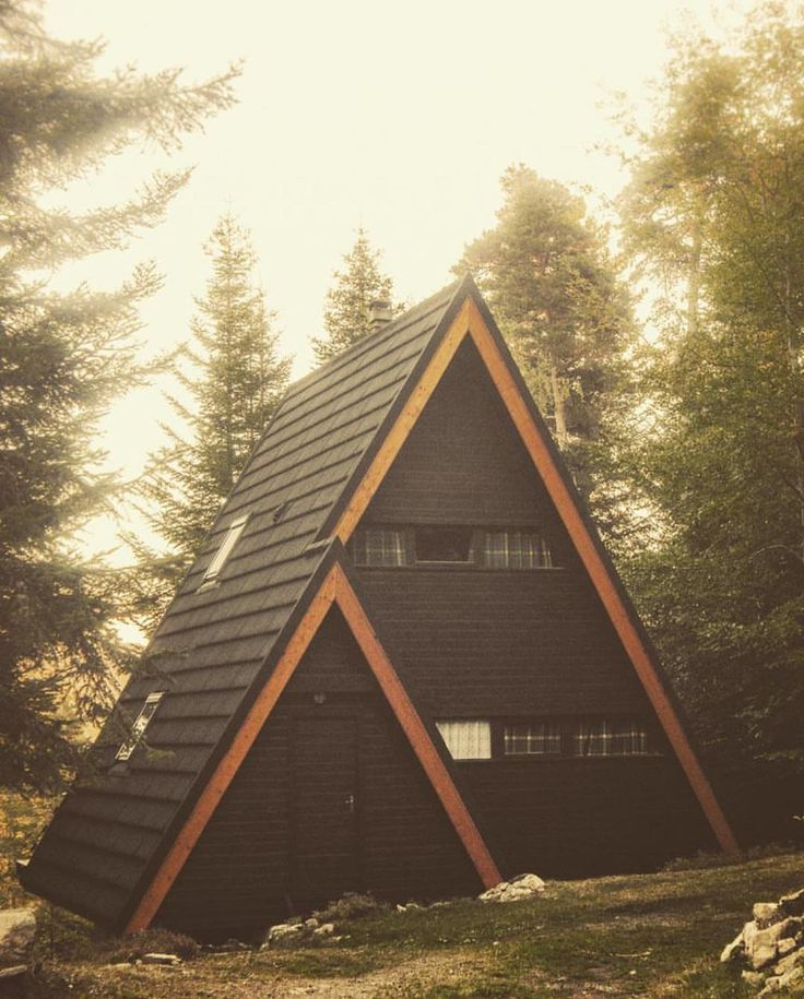 A-frame via @francisque_s Check out tinyhousemovement... for more awesome tiny homes