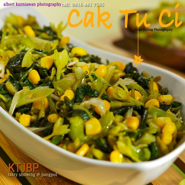 Indonesian food: sautéed corn and papaya flower #Indonesian recipes #Indonesian cuisine #Asian recipes http://indostyles.com
