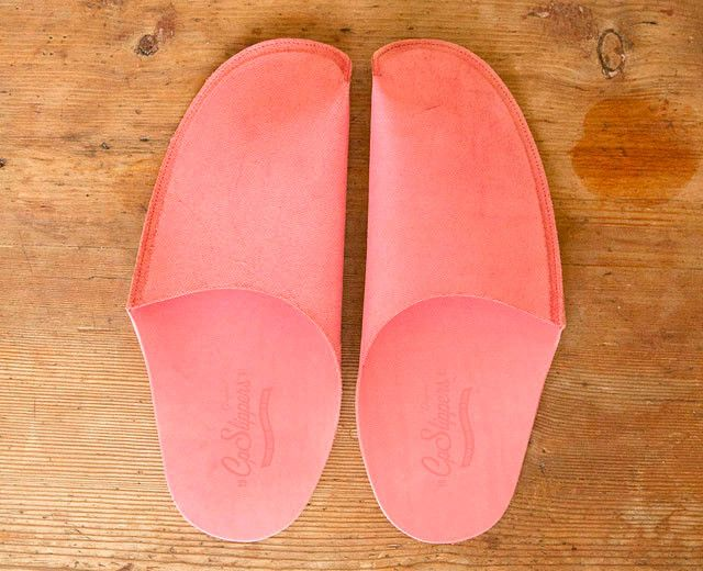 Pink Leather Slipper