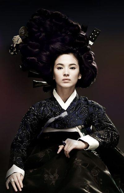 "song hye gyo as ""hwang jini"", for the movie poster, korea"